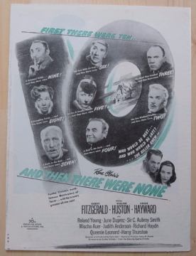 And Then There Were None (1945) - Vintage Trade Ad